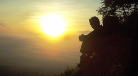 Eko Syamsudin saat Sunrise di Gunung Merapi